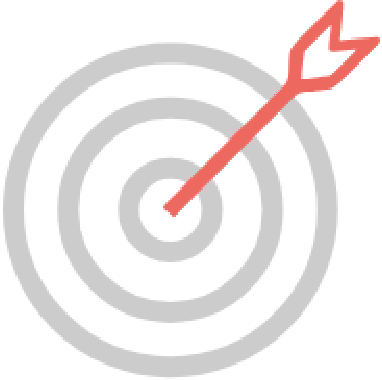 target graphic with red arrow