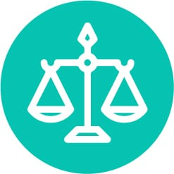 scale icon in turquoise