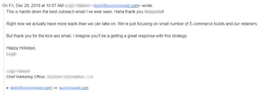 outreach sales email response
