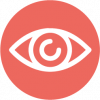 icon of an eye in red