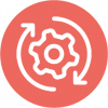 icon of processes in red