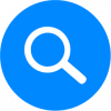 search graphic in blue
