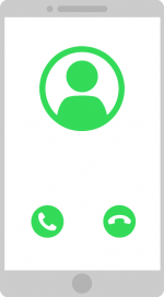 mobile caller graphic