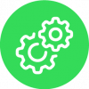 toggle graphic in green