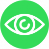 graphic of an eye in green