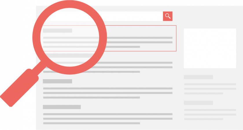 search toggle in red
