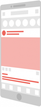 mobile product graphic in pink